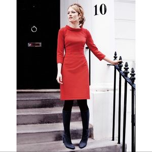 Boden Ribbed Zoe Red Dress